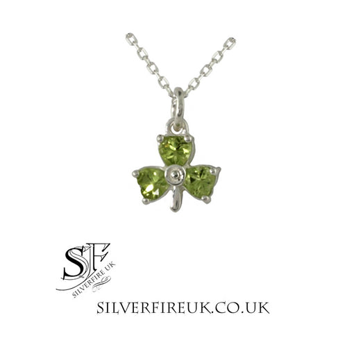 peridot shamrock necklace