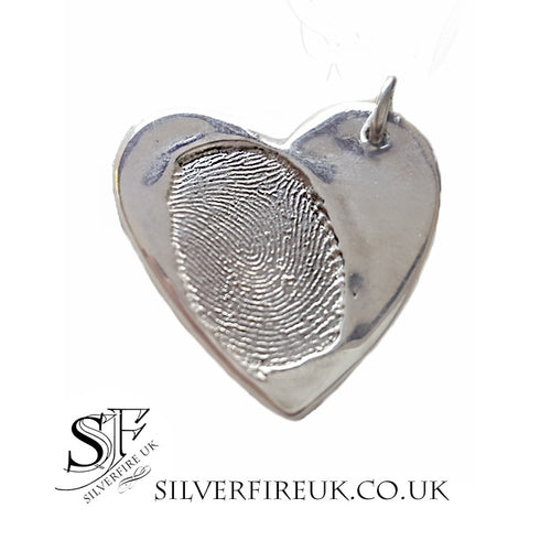 personalised fingerprint pendant