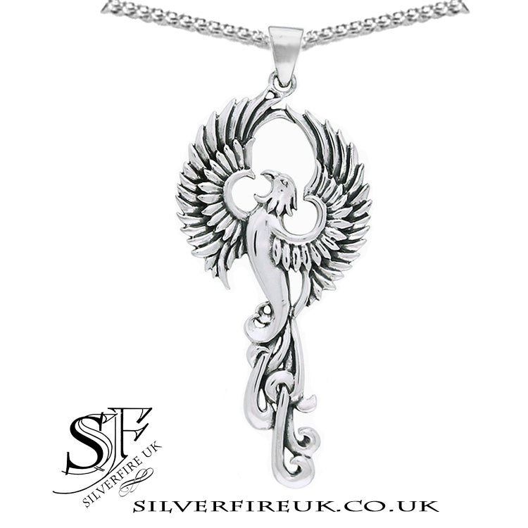 Silver Phoenix Necklace