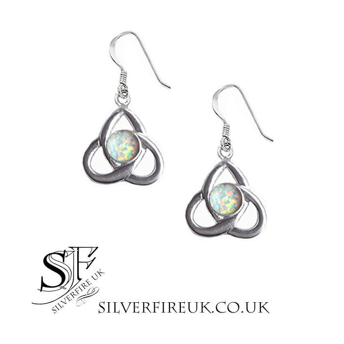 Opal Celtic Earrings