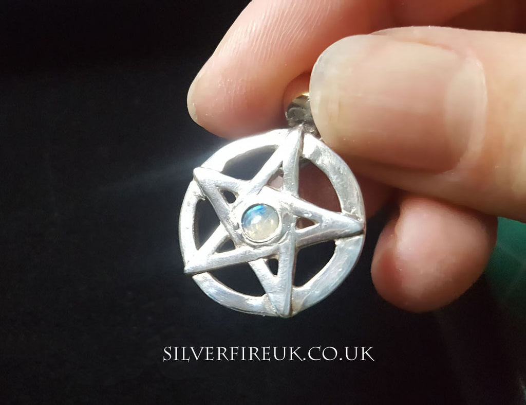 Pentagram pendant Moonstone Gemstone
