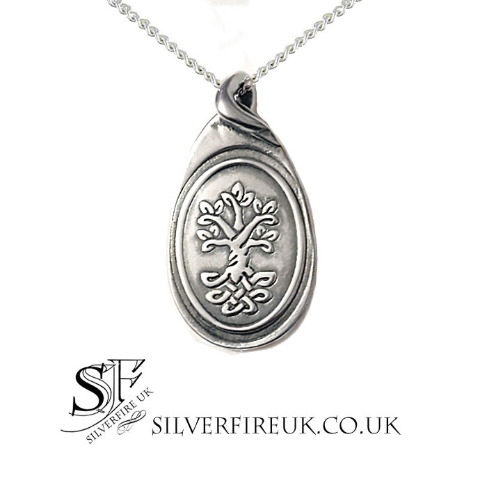 raindrop tree of life necklace