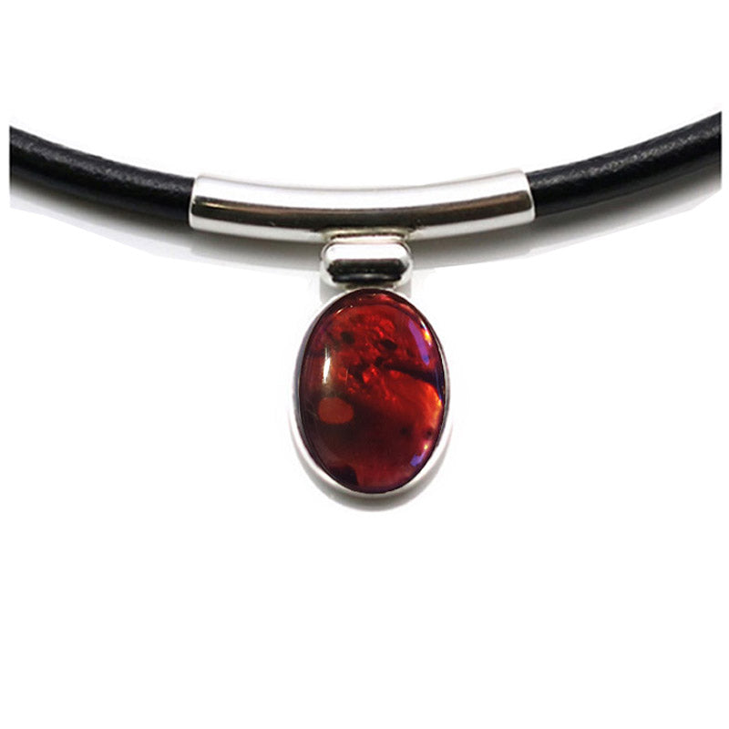 gothic choker red gemstone