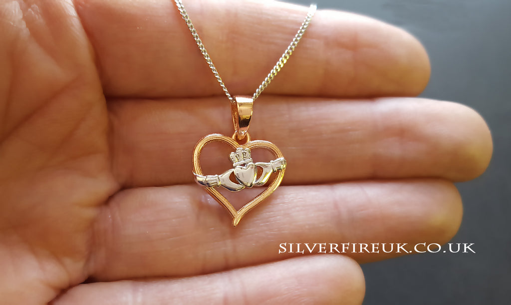 Claddagh Rose Heart Necklace