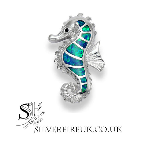 Opal Seahorse Necklace