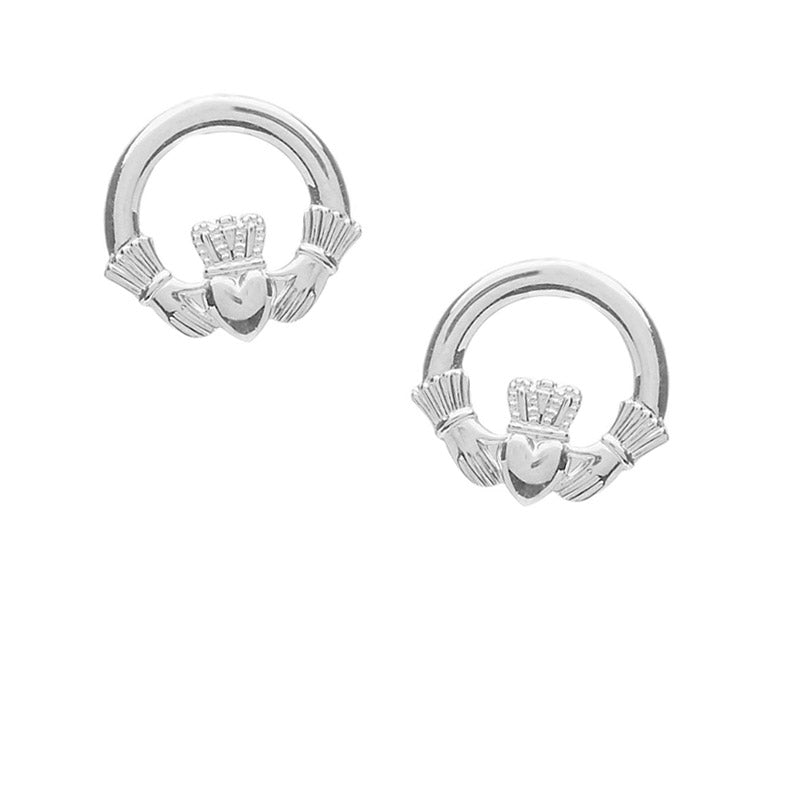 silver claddagh earrings