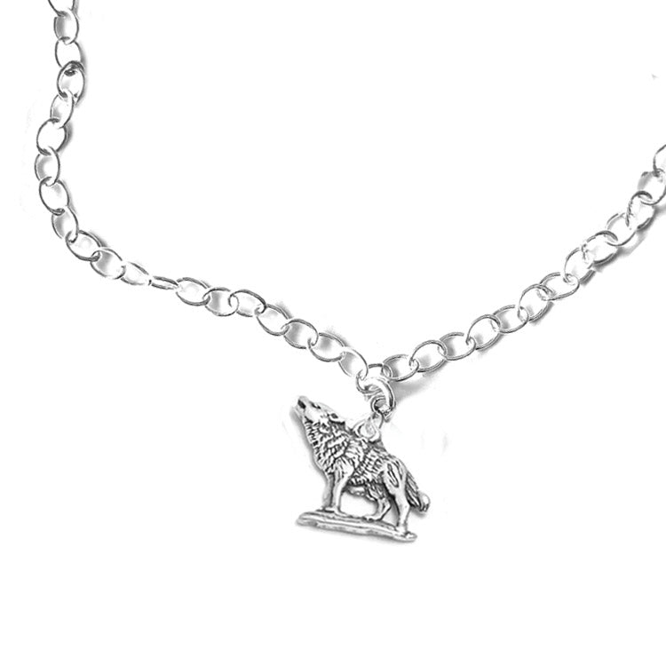 silver wolf anklet