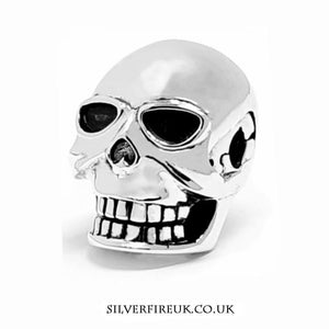 Skull Charm Solid Silver