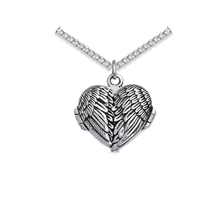 small angel wing locket