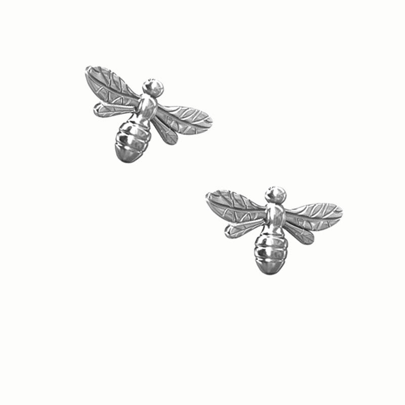 small bee earrings, bee ear studs