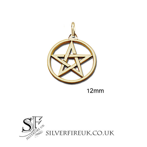Small Gold pentagram necklace