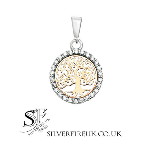 small gold tree of life pendant