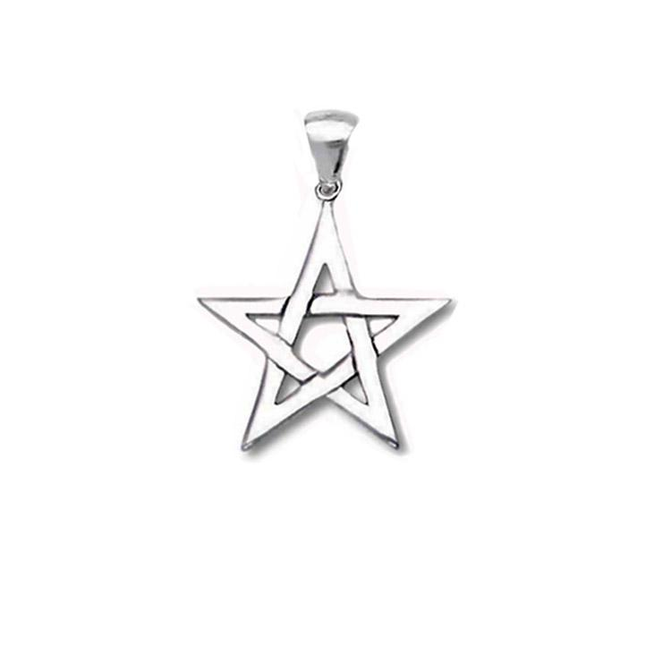 small open pentagram pendant