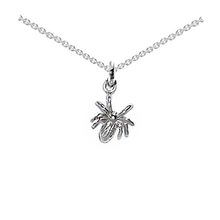 small spider necklace