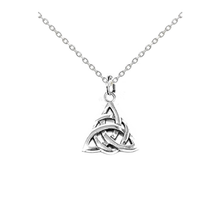 small triquetra necklace