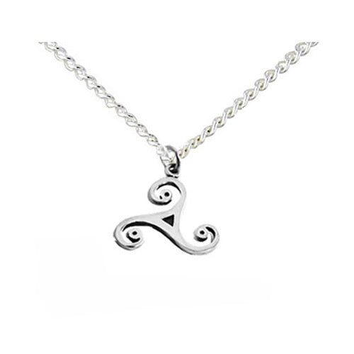 small triskele Celtic necklace