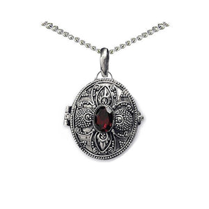 garnet locket poison pendant