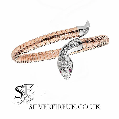Serpent snake bangle rose gold