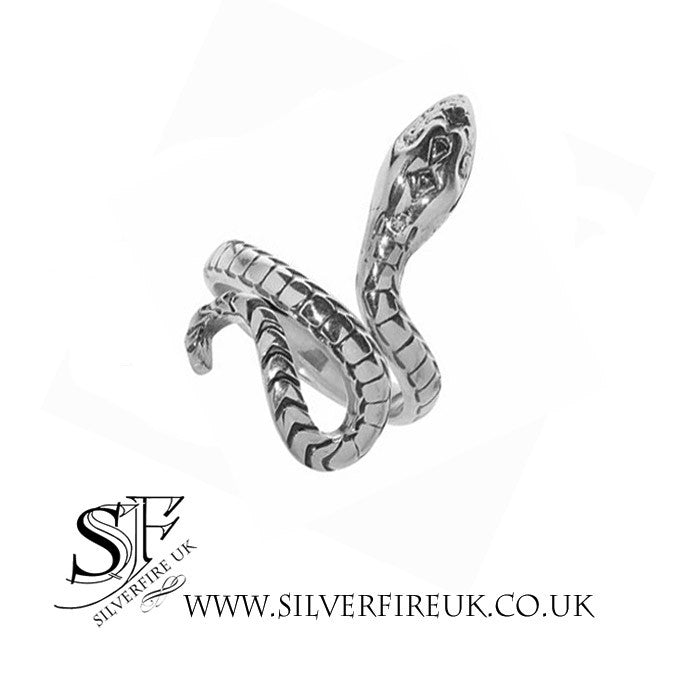 SERPENT SILVER RING