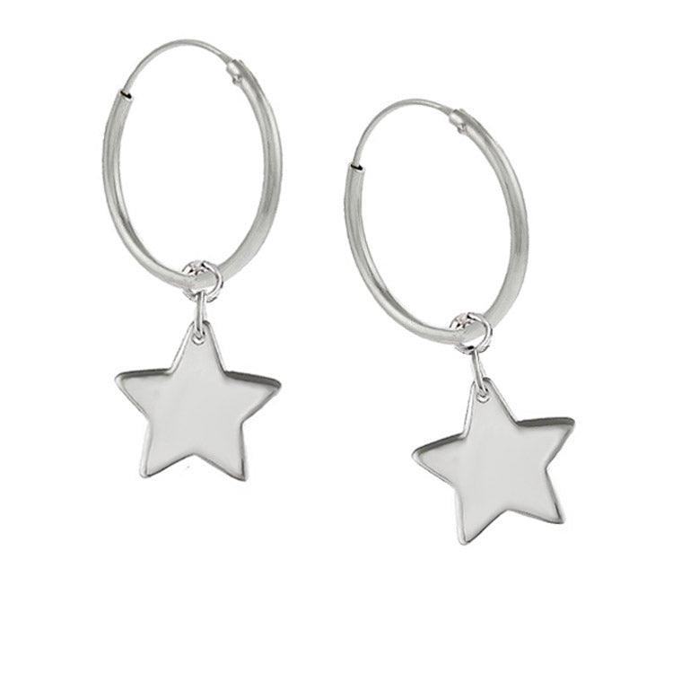 NEW: 20mm Hoop Earrings With Stars