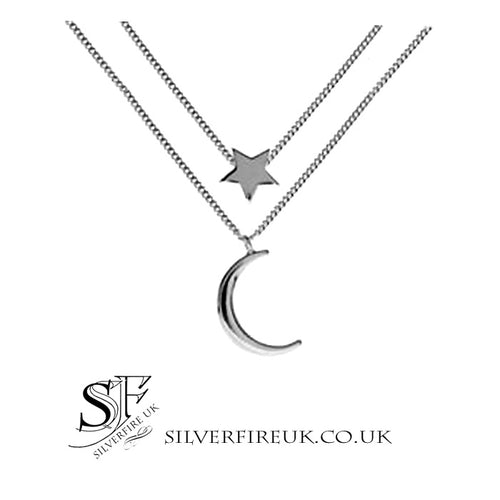 Star Moon Layered Necklace