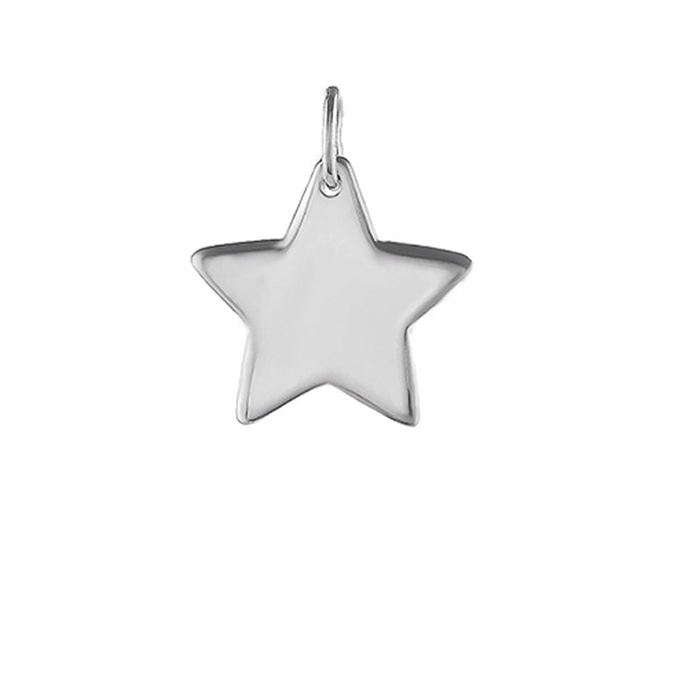NEW: Plain Silver Star Necklace