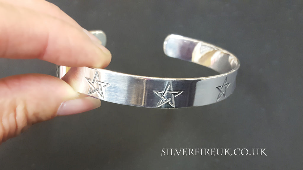 Pentagram Bangle Personalised