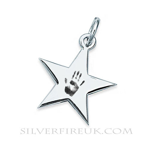 Handcrafted Star Necklace: Fingerprint, Handprint & Footprint Jewellery
