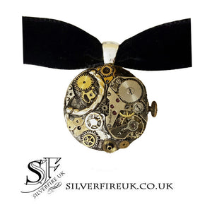 steampunk necklace velvet choker