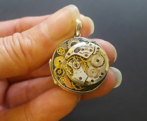 steampunk locket jewellery