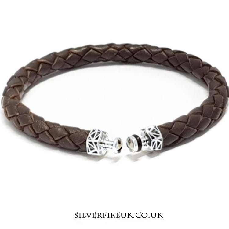brown talisman leather bracelet