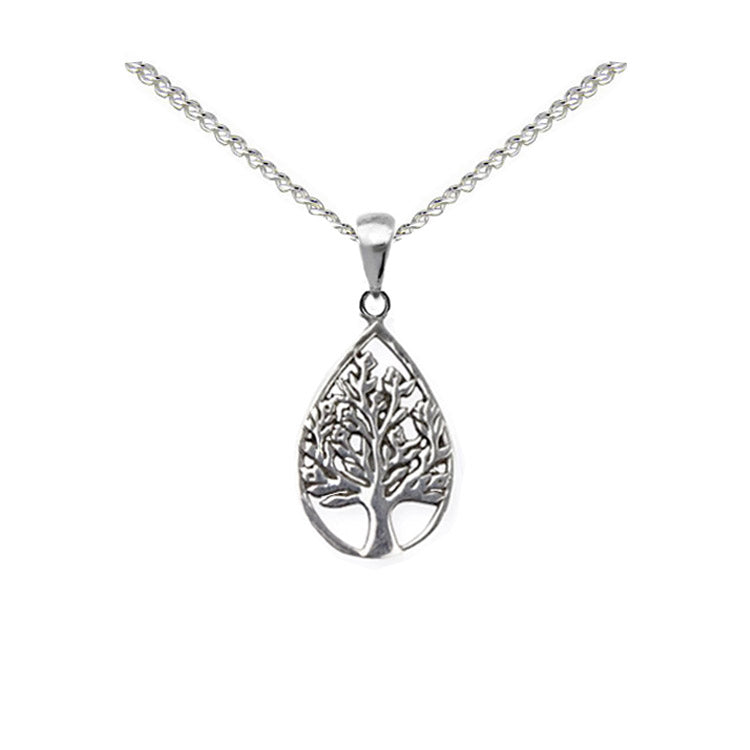 teardrop tree of life necklace