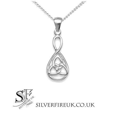 Teardrop Triquetra Necklace