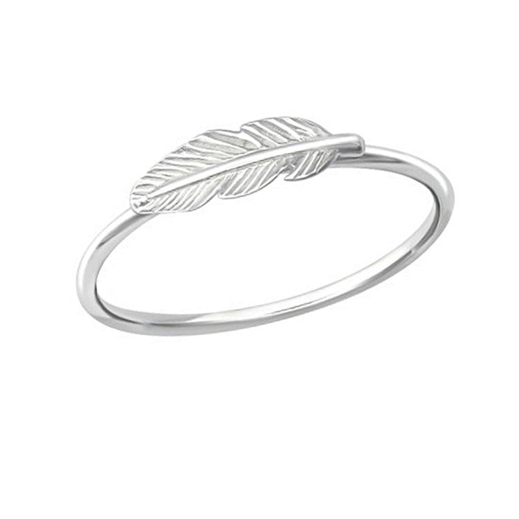 thin band  feather ring