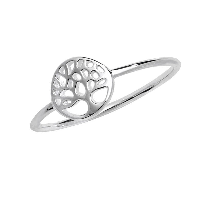 tree of life ring with thin band