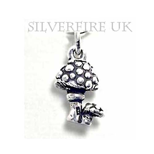 Toadstool Silver Charm,Toadstool Charms