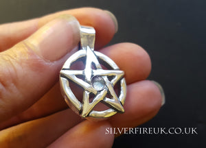 topaz pentagram necklace
