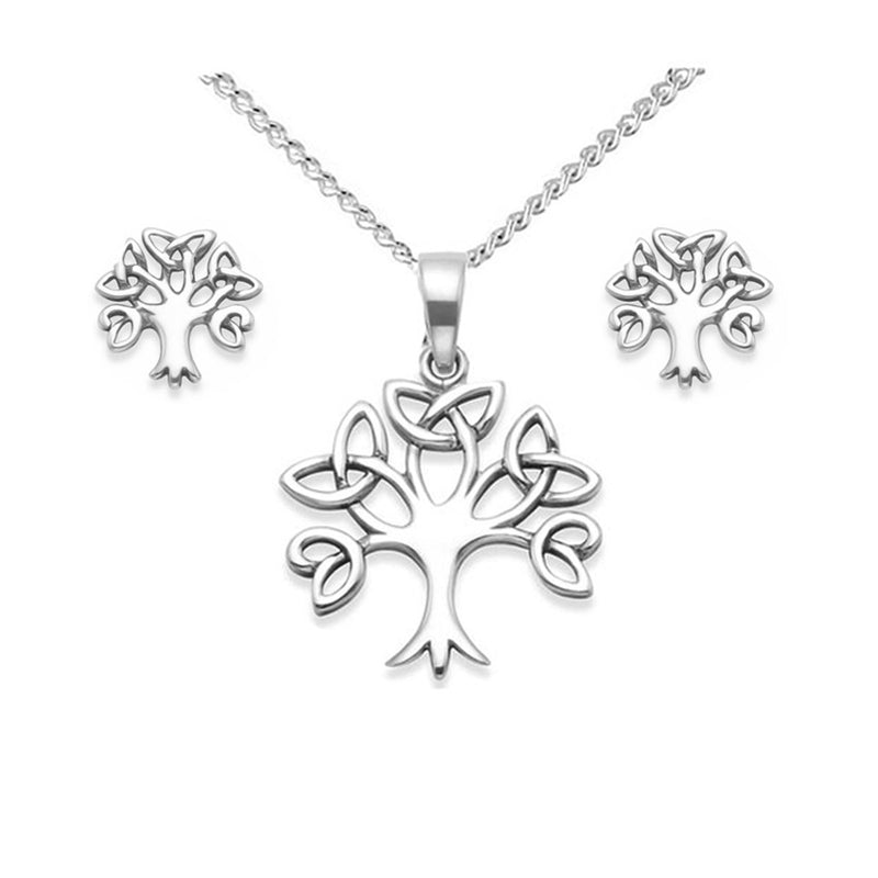 tree of life celtic jewellery set