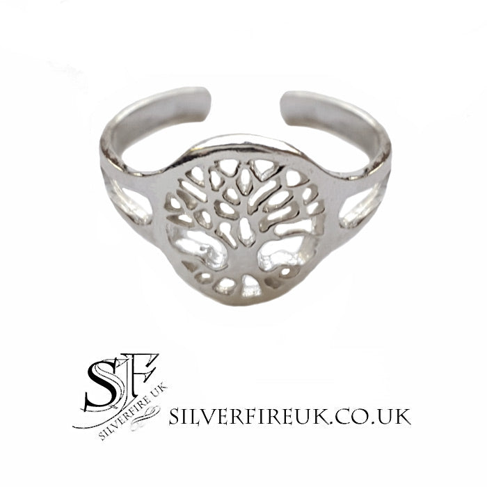 tree of life toe midi ring