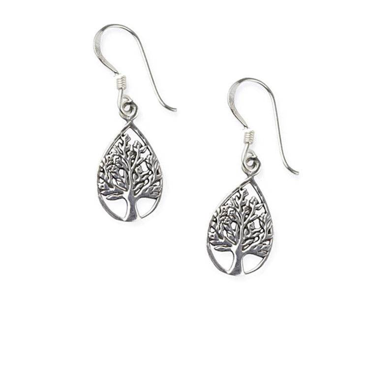 teardrop tree of life earrings