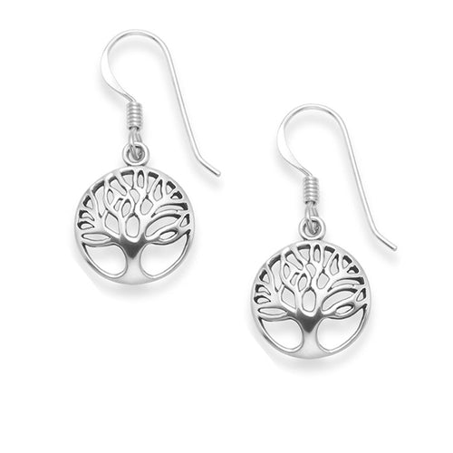 tree of life earrings, dangle