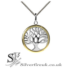 Tree Of Life Gold Hoop Necklace