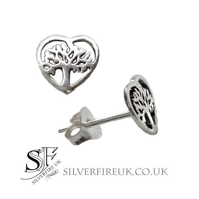 Tree Of Life Heart Earrings