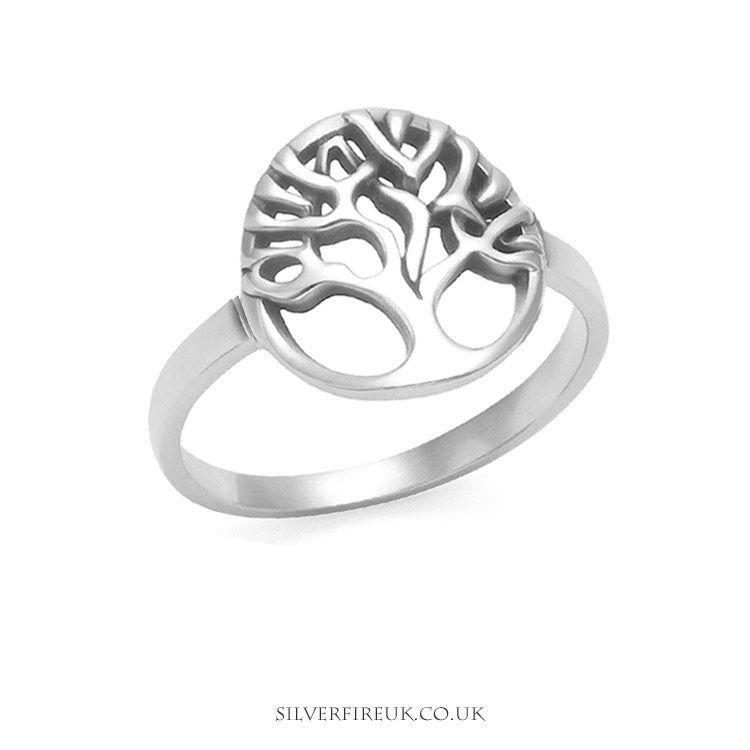 Tree of life ring in circle