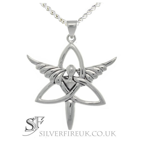 Trinity Angel Celtic Necklace