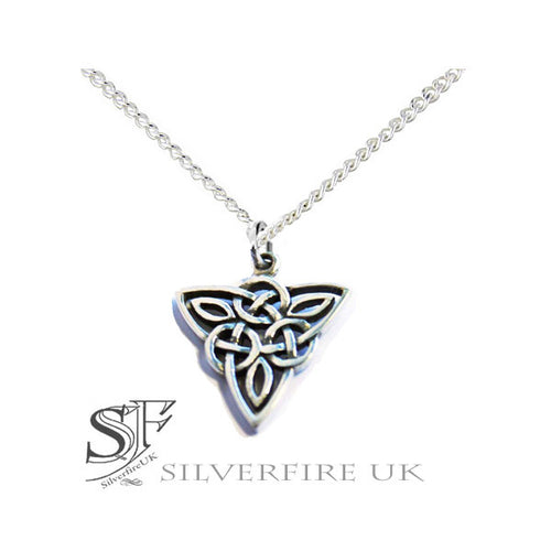 Ladies Trinity Knot Celtic Necklace