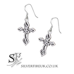 Triquetra cross earrings