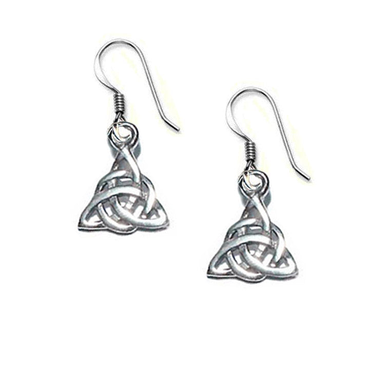 triquetra earrings, trinity