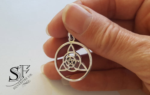 triquetra pagan necklace