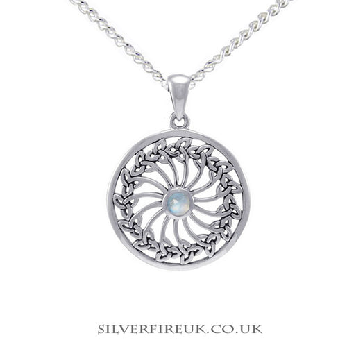 Triquetra Wheel Celtic Necklace